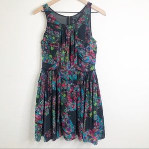 BROADWAY & BROOME MADEWELL Floral Silk Dress 4